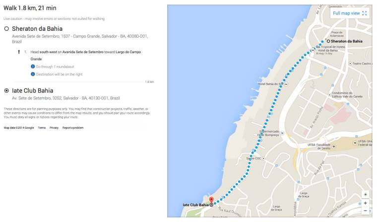Conference Dinner Directions
